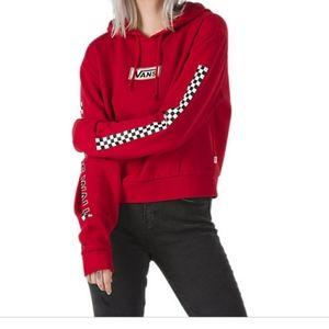 VANS red cropped hoodie